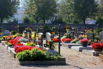 Beispiele für gepflegte Gräber
